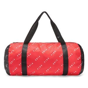 Vs pink logo packable duffle bag